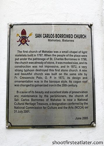 San Carlos Borromeo Church, Mahatao, Batanes-1