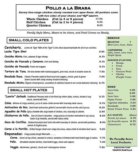 Limon menu
