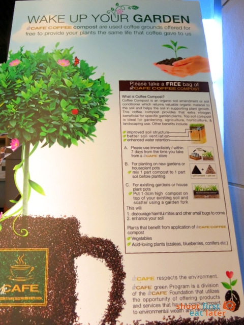 Dr. Cafe coffee compost