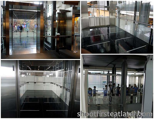 Newseum's huge elevator