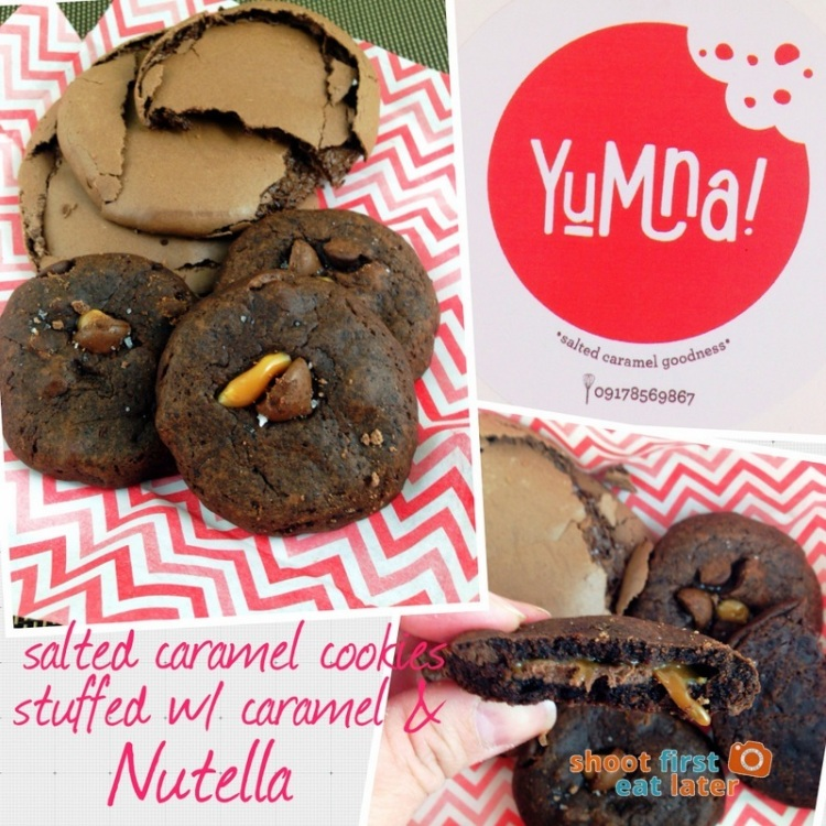 Yumna Salted Caramel Cookies with Nutella Caramel filling-004
