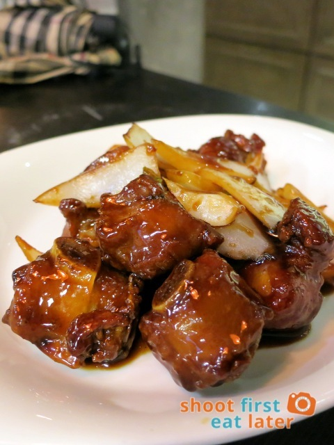 stewed spare rib in black vinegar sauce HK$75