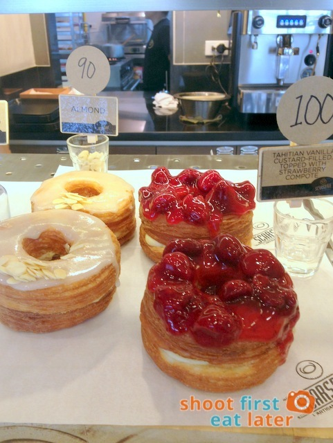 Scarsdale Artisinal Delights- Croughnuts - Almond P90 Tahitian Vanilla Custard filled with Strawberry Compote P100