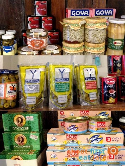 Connie's Kitchen Deli - angulas, olives, anchovies, Robo tuna in olive oil