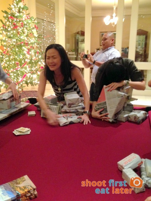 Christmas Party - playing white elephant-001