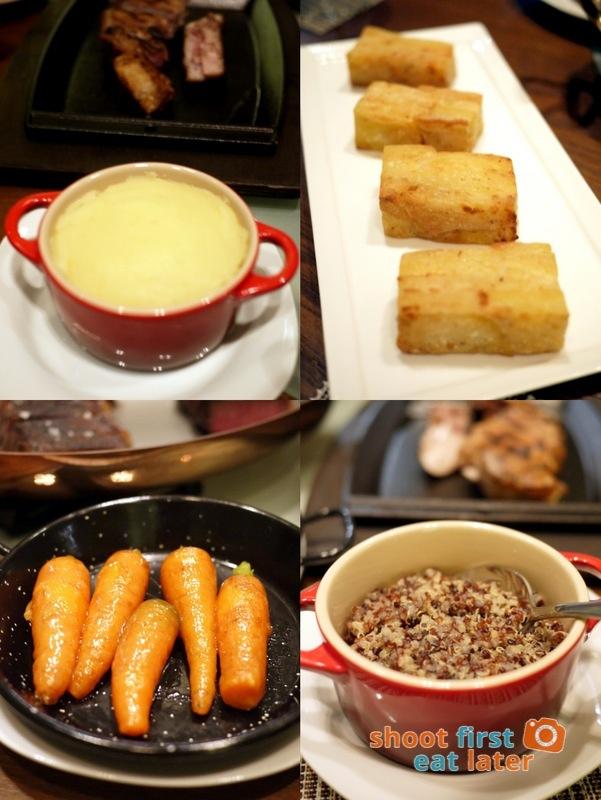 Allium Restaurant - Mashed Potatoes, Potatoes Pave, Glazed Baby Carrots, Quinoa