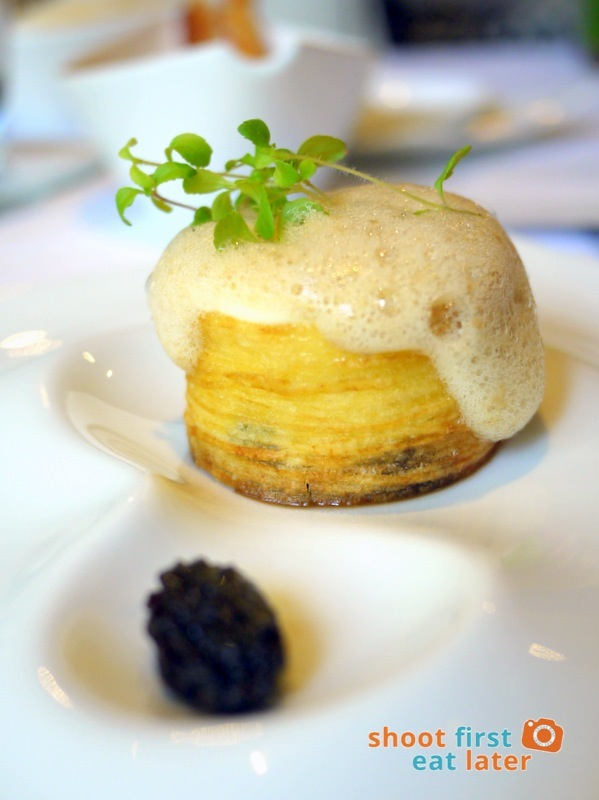 Mandarin Oriental Manila - The Tivoli- Richard Toix Degustation Menu - Potato Black Truffle Croustillant with Brown Butter