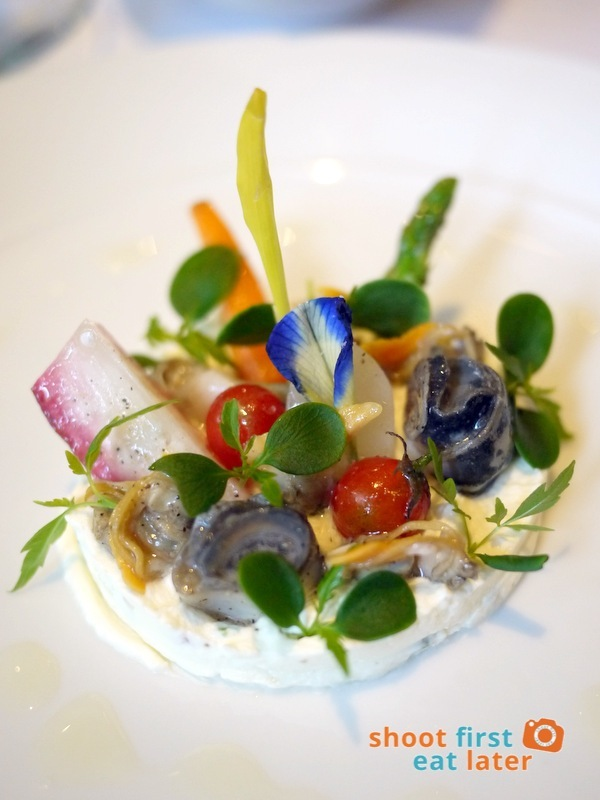 Mandarin Oriental Manila - The Tivoli- Richard Toix Degustation Menu - Chaud Froid from Young Vegetables & Shellfish