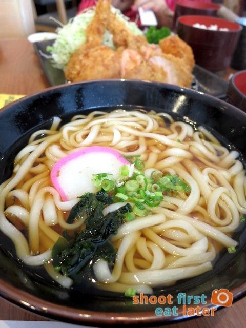 Romankan Yokohama- change rice to udon soup add HK$18