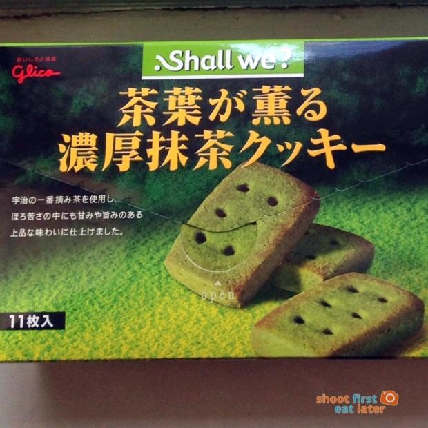 1027 Yamada Japanese snacks - Glico Shall We matcha cookies