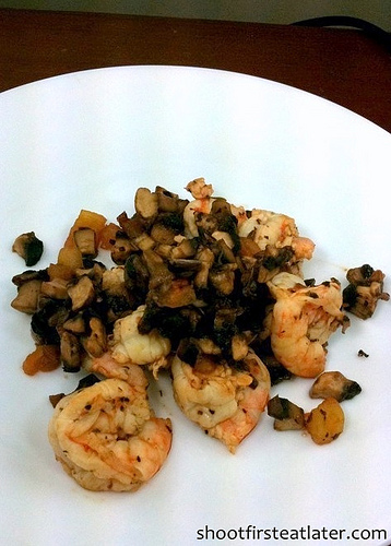 Cohen Lifestyle - shrimp & mushroom saute