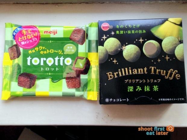 1027 Yamada Japanese snacks - Meiji Torotto, Bourbon Brilliant Truffe