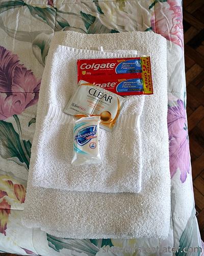 towel & toiletries