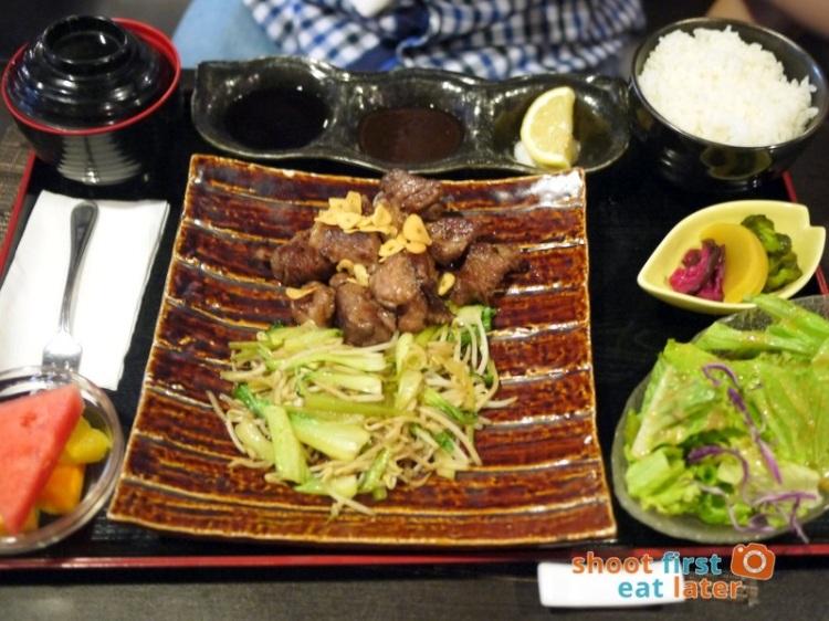 Toki Japanese REstaurant- wagyu steak lunch P2,000