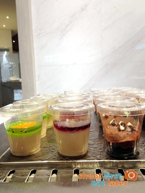 PAL's new Mabuhay Lounge at Naia Terminal 2 - dessert cups