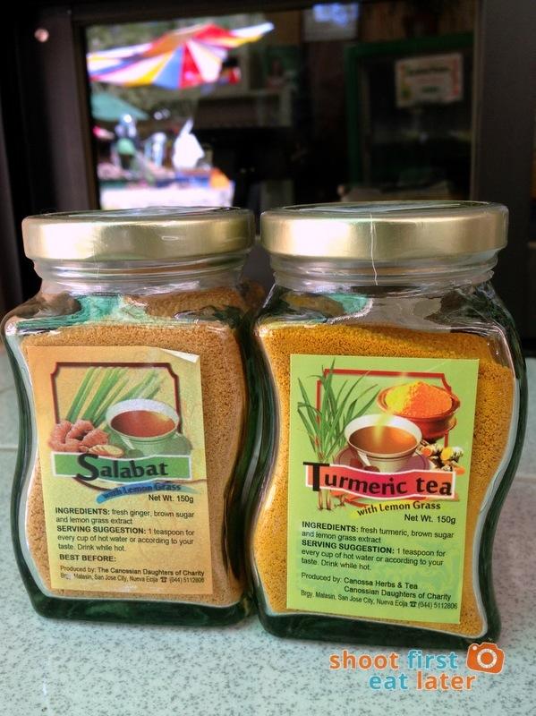 Organic Products at Good Shepherd Baguio- Salabat, Turmeric Lemongrass tea