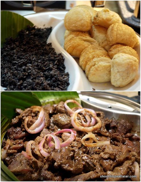 Zamboanga rice, chicken mushroom empanada, tapang baboy