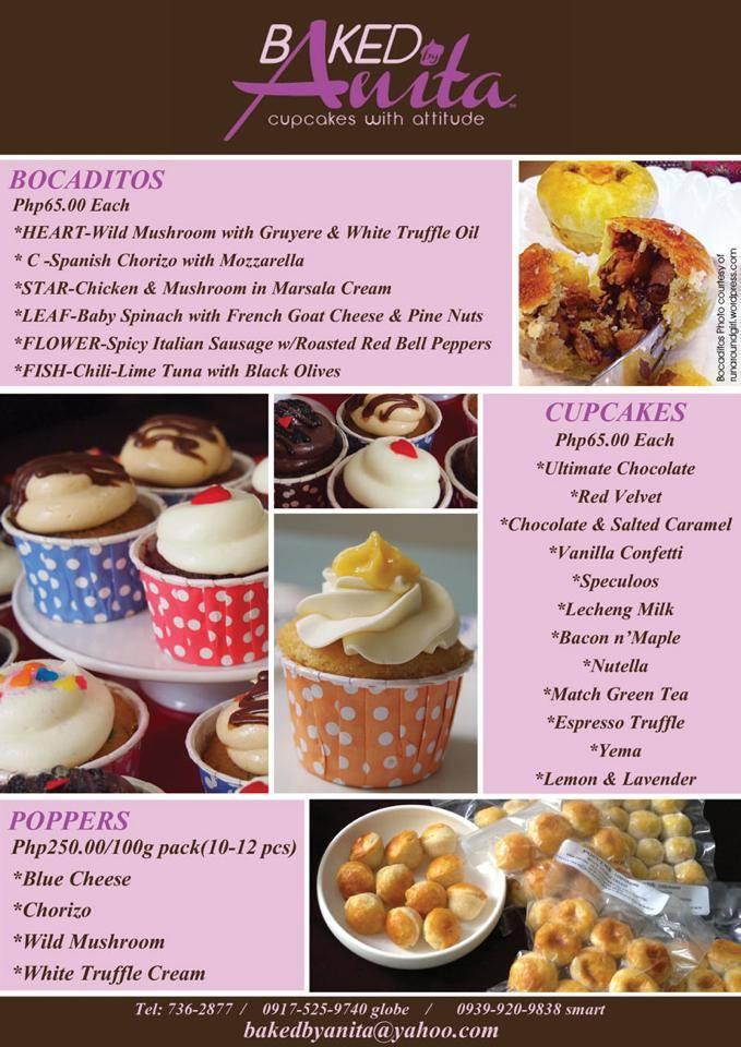 Baked by Anita menu