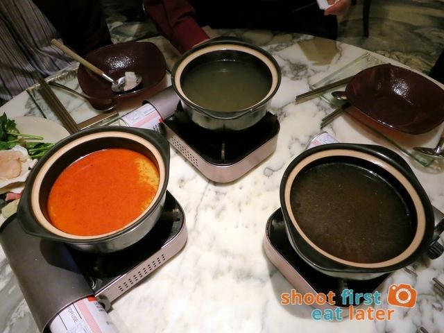 individual hot pots and soup bases