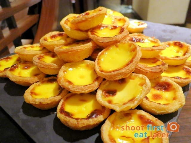 mini Portugese egg tarts