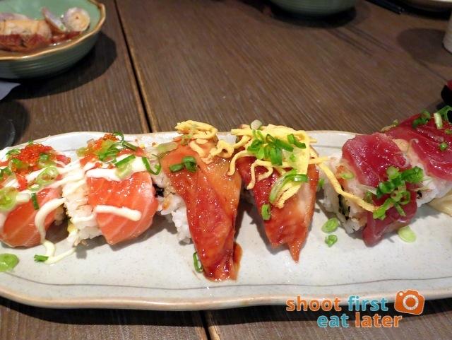 Watami HK- special assorted sushi (salmon, eel, tuna) HK$68