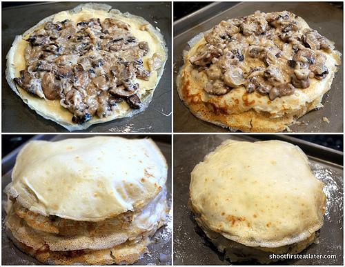 Mushroom Crêpe Cake-10