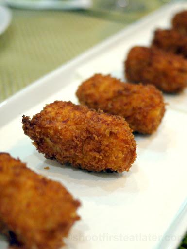 chicken & chorizo croquettes