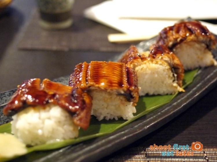Toki Japanese REstaurant- unagi bo sushi P700