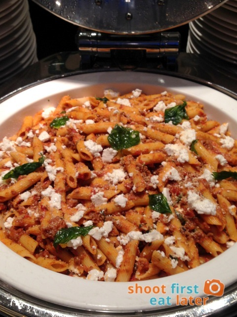 Oakroom Restaurant and Bar- penne with Feta cheese and ground lamb