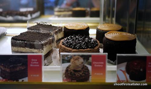 UCC Park Cafe cakes