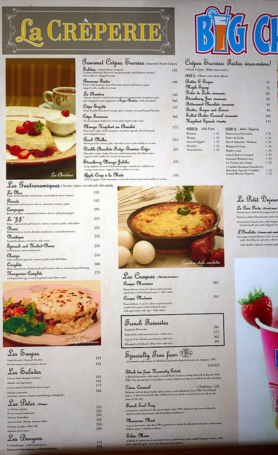 La Creperie menu