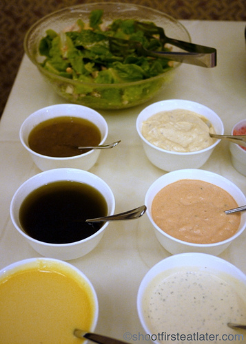 Hamilo Coast buffet lunch-salad dressings