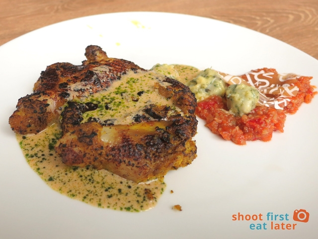 quail marinated in laksa for 36 hours