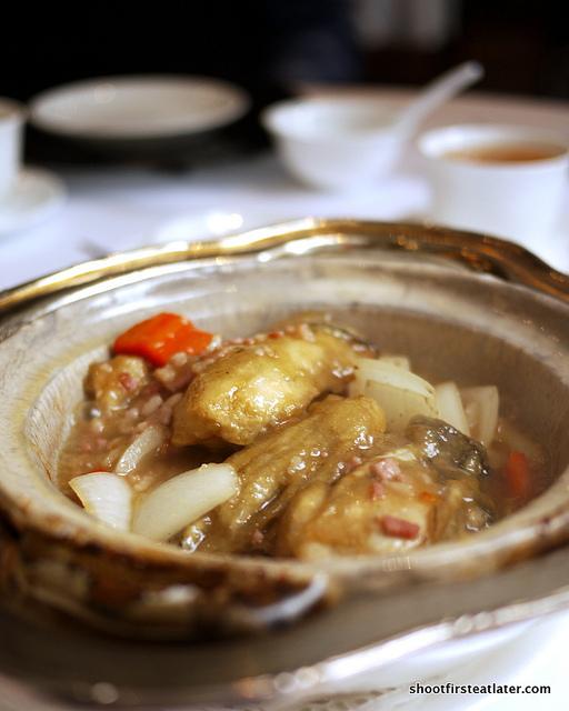 braised oyster w/ bacon & onion