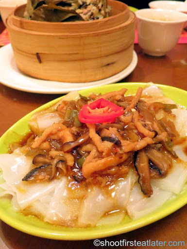 steamed -Chen Chuan- rice sheet noodles with preserved vegetable & shredded pork HK$38