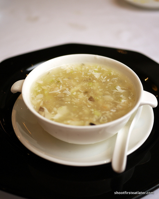 aloe & assorted seafood thick soup