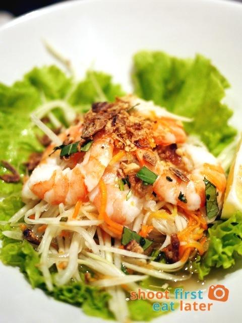 green papaya prawn salad P245