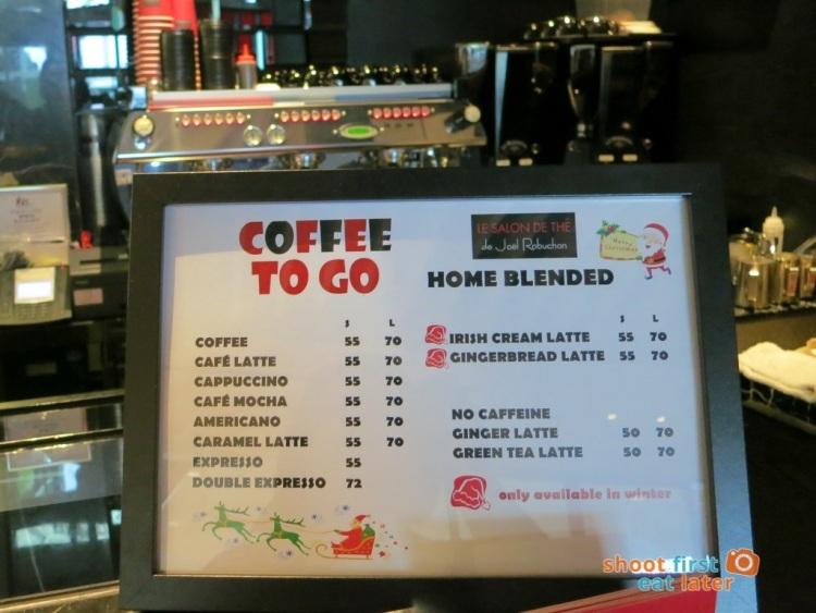 Le Salon de Thé de Joel Robuchon (Elements HK)- coffee to go menu