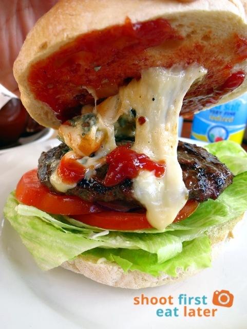 Bottle of Milk, Lorne- blue cheese burger