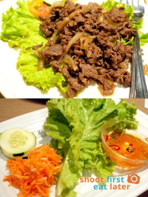 house special beef with lettuce wrap P450