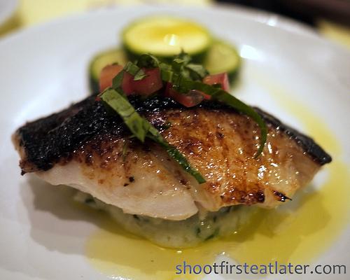 basil marinated black cod