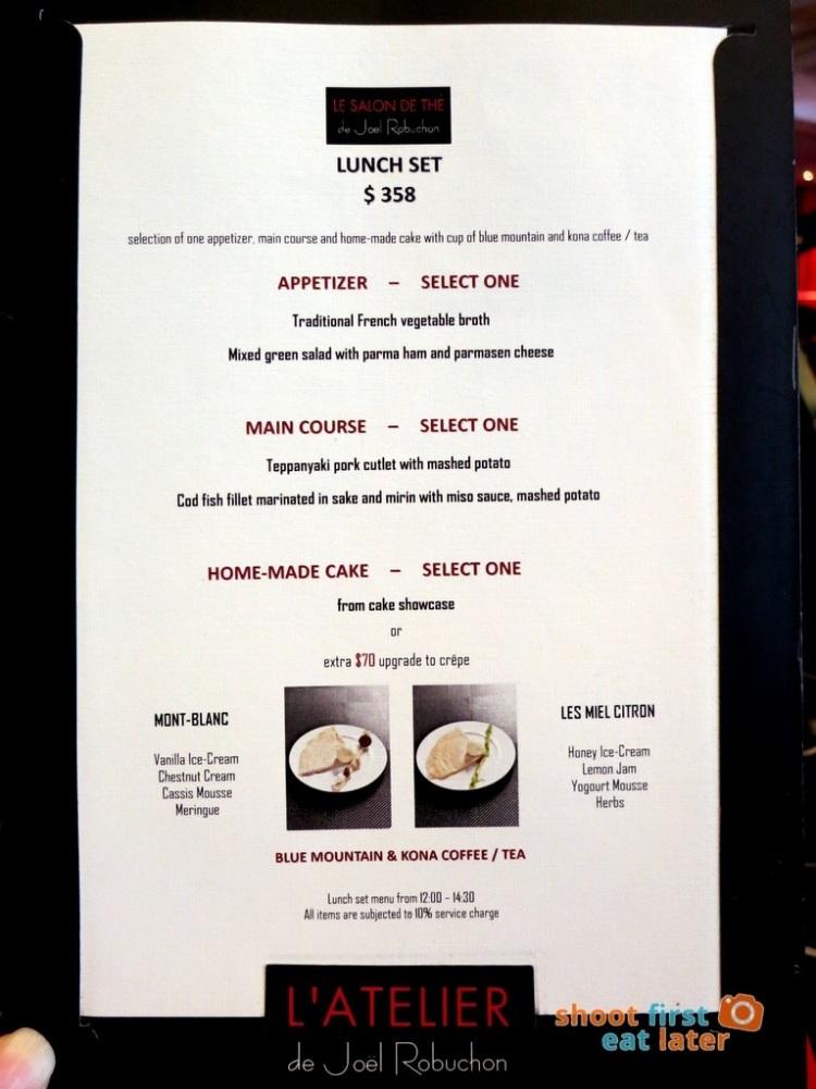 Le Salon de Thé de Joel Robuchon (Elements HK)- lunch set menu