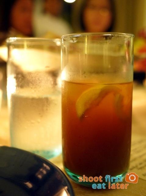 lemon water & lemongrass iced tea