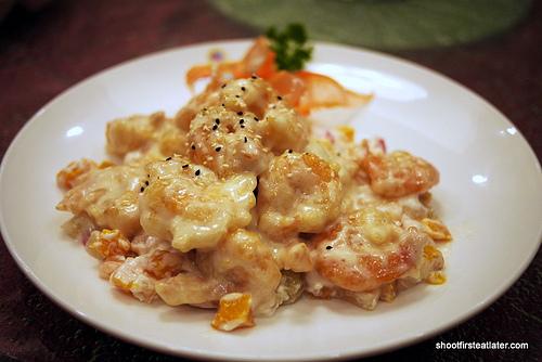hot shrimp & chicken salad