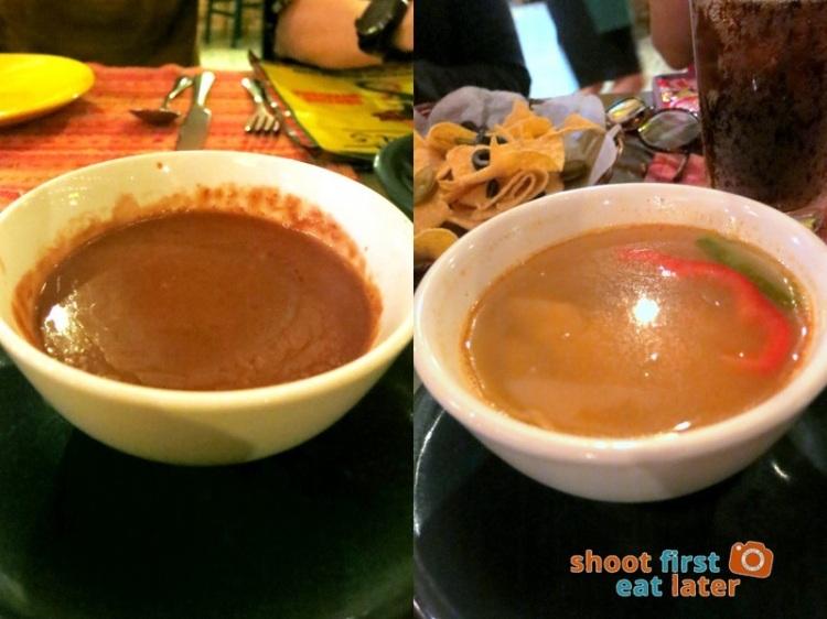 Iguana's - Mayan Bean Soup P95 Tortilla Soup P90