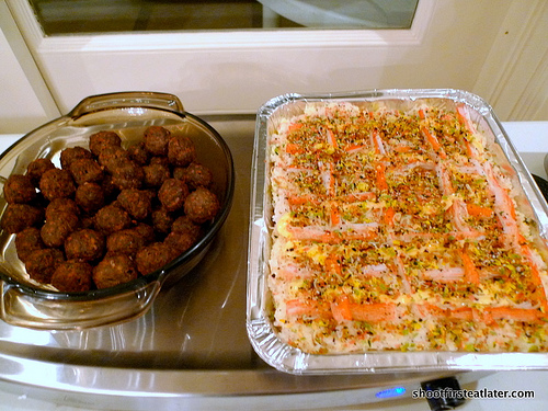meatballs & Japanese rice