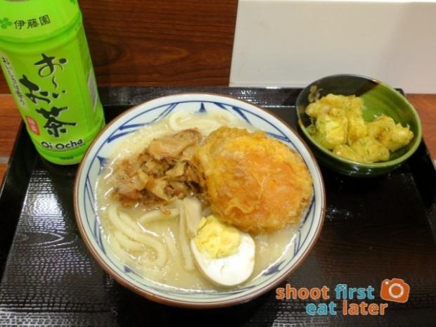 Marugame Udon - pork broth udon (M) HK$38