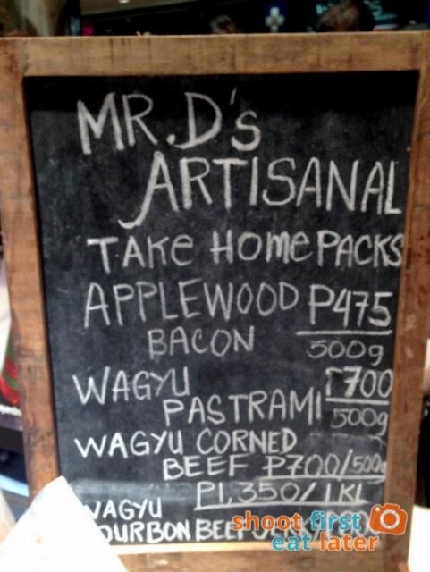 Mr. D's Artisinal Sundries menu