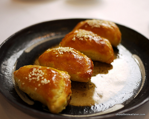 baked barbecued pork puff