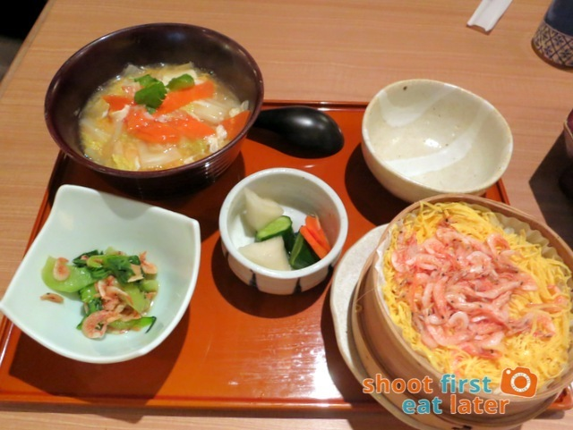 OOtoya HK- steamed Sakura shrimp rice & tofu soup set